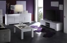 Eos, bílý vysoký lesk, obývací pokoj