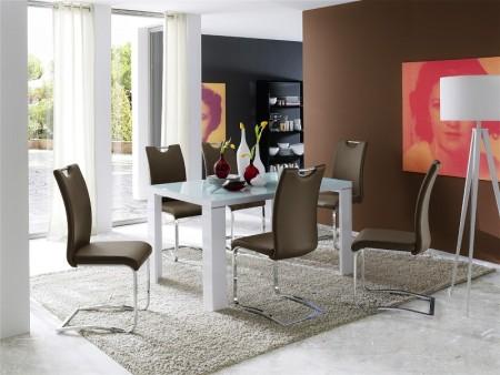 Jídelní židle KARIA cappuccino v interieru_obr. 6