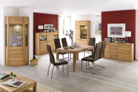 Jídelní židle NELA II. v interieru_mix s židlí NELA_hnědá_obr. 1