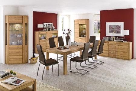 Jídelní židle NELA II. v interieru_mix s židlí NELA_hnědá_obr. 3