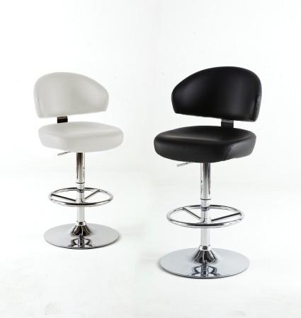Barová židle GIANT, bílé a černé provedení
