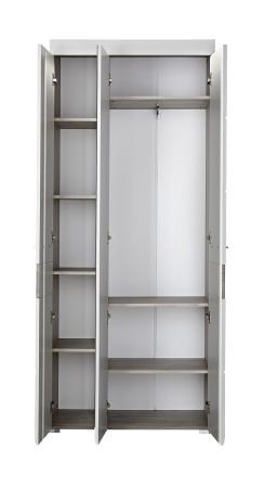 Předsíňový nábytek FUNNY_typ 01_šatní skříň_šikmý pohled_otevřená_obr. 5