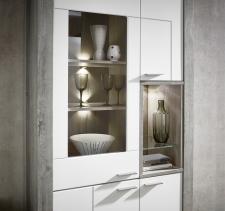 Obývací / jídelní nábytek GRACE white_detail vitriny_obr. 11