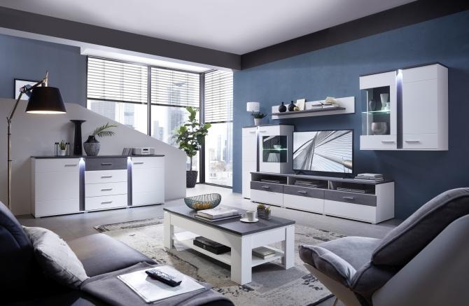 Obývací a jídelní sestavy GRENADA white