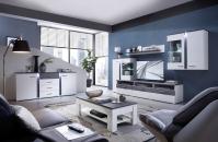 Obývací / jídelní nábytek GRENADA white_ob. sestava 10 E9 WT 80 + sideboard 20 + konf. stůl  29 E9 WT 02_obr. 1