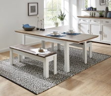 Jídelní stůl JASPER 20 G9 UH 01 rozložený + 2x lavice 20 G9 UH 03_obr. 16