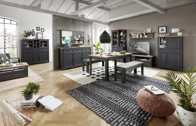 Obývací a jídelní sestavy JASPER graphit