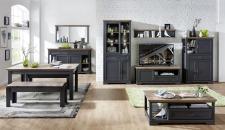 Obývací / jídelní nábytek JASPER graphit_ob. sestava 10 G9 GH 82 + sideboard 21 + zrcadlo 50 + konf. stůl 20 G9 GH 02 + jídelní stůl 20 G9 GH 01 + 2x lavice 20 G9 GH 03_obr. 2