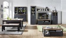 Obývací / jídelní nábytek JASPER graphit_ob. sestava 10 G9 GH 81 + buffet 10 G9 GH 84 + konf. stůl 20 G9 GH 02 + jídelní stůl 20 G9 GH 01 + 2x lavice 20 G9 GH 03_obr. 4