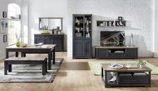 Obývací / jídelní nábytek JASPER graphit_ob. sestava 10 G9 GH 83 + sideboard 20 + zrcadlo 50 + konf. stůl 20 G9 GH 02 + jídelní stůl 20 G9 GH 01 + 2x lavice 20 G9 GH 03_obr. 5