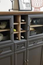 Obývací / jídelní nábytek JASPER graphit_detail regálku na lahve vína_obr. 21