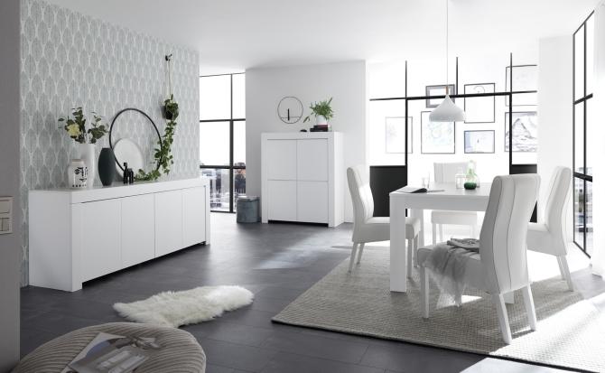 Jídelní a obývací sestavy CASTELLO bílý lak