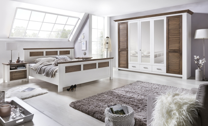 Ložnice LAGOON_postel 180 cm, 2x noční stolek, 5dv. šatní skříň_obr. 1