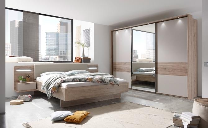 Ložnice LAGOS_varianta s šatní skříní s posuvnými dveřmi_obr. 1