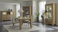 Obývací a jídelní nábytek LOFT_divoký dub Bianco masiv_obr. 2