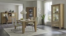 Obývací a jídelní nábnytek LOFT_divoký dub Bianco masiv_obr. 3