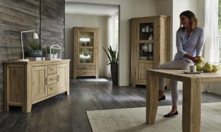 Obývací a jídelní nábytek LOFT_divoký dub Bianco masiv_obr. 4