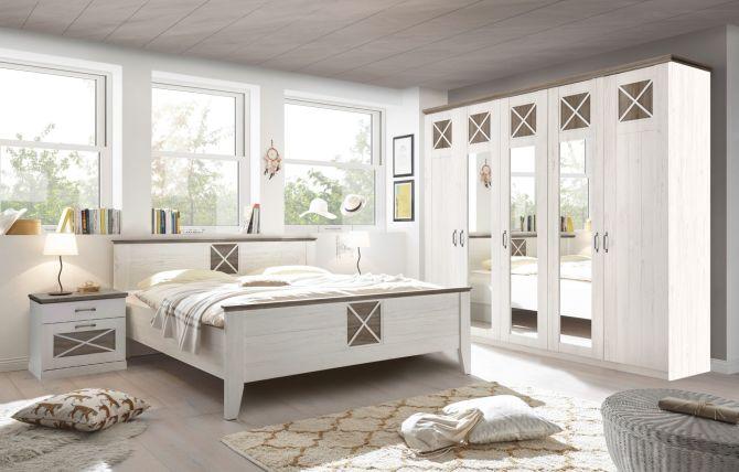 Ložnicový nábytek GRACE_šatní skříň 5-ti dveřová + postel + noční stolky_ obr. 1