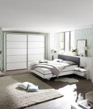 Ložnicový nábytek ICE_ šatní skříň s posuvnými dveřmi 2-dveřová s okrasným rámem + postelový komplet s nočními stolky _ obr. 2