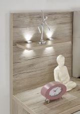 Ložnicový nábytek PORTO_ detail panelu s LED osvětlením nad nočními stolky_ obr. 6