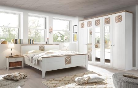 Ložnice SCANDIA_postel bez podstavby_noční stolky s proutěnými košíky_obr. 2