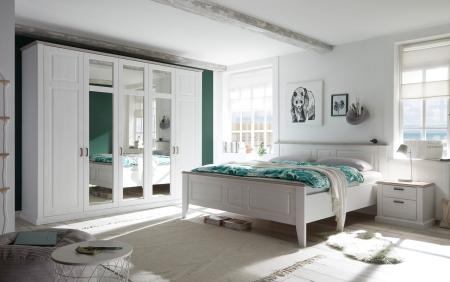Ložnicová sestava LINEA_šatní skříň 55-300-S4, postel 22-300-S4, noční stolky 38-300-S4_obr. 1