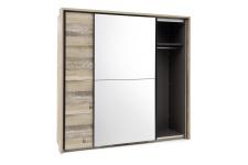 Šatní skříň s posuvnými dveřmi RIVER 58-590-U8 včetně okrasného rámu 58-592-U8_otevřená_obr. 13
