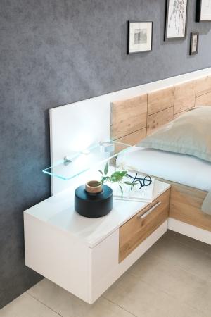 Ložnicový nábytek VALENCIA_detail nočních stolků_možnost volitelného LED osvětlení_obr. 3
