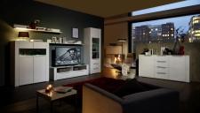 Obývací stěna MADISON WW + sideboard _ noční pohled