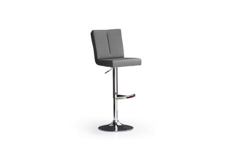 Barová židle MANTO_chromovaná podnož_kruh_šedá_obr. 4