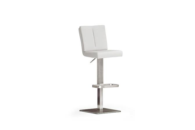 Barová židle MANTO nerez čtverec