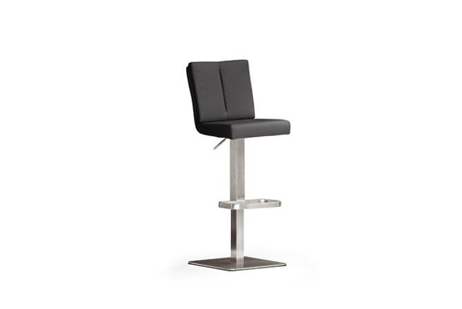 Barová židle MANTO_nerezová podnož_čtverec_černá_obr. 3