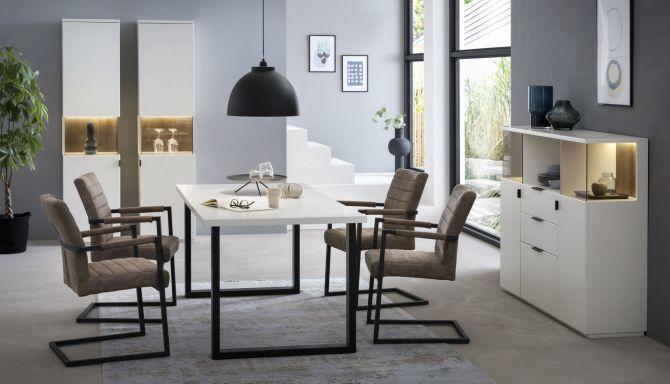 Obývací a jídelní sestavy MAURO white