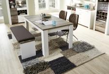 Jídelní stůl MESSINA 20 G4 WD 01_nerozložený_160 cm_ + lavice 20 G4 WD 03_obr. 12