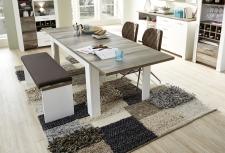 Jídelní stůl MESSINA_typ 20 G4 WD 01_rozložený na 240 cm_ + lavice 20 G4 WD 03_obr. 14