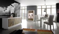Jídelní nábytek MONDE_sideboard_vitrina_jídelní stůl 180 cm_bílý matný lak - pero_obr. 2