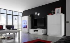 Obývací sestava MONDE_vitrina_TV-element_highboard_bílý matný lak_obr. 30