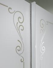 Šatní skříň s posuvnými dveřmi MUSA_detail_sítotisk