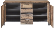Sideboard CARTAGO 10 G3 VV 24_ čelní pohled_  otevřený_ obr. 27