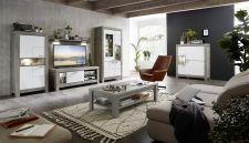 Obývací a jídelní nábytek GRACE white _ sestava typů 40 54 3W..  07 + 30 + 02 + 40 + 06 + konferenční stůl 29 54 3W 02_ obr. 1
