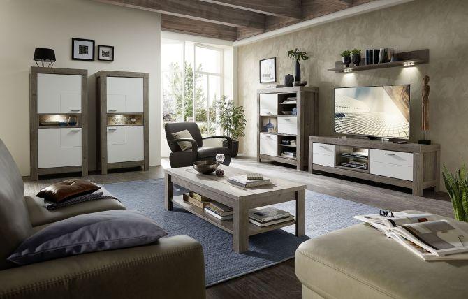 Obývací a jídelní sestavy GRACE white