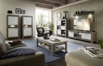 Obývací a jídelní nábytek GRACE white _ sestava typů 40 54 3W..  07 + 07 + 24 + 32 + 40 + konferenční stůl 29 54 3W 02_ obr. 2