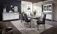 Obývací a jídelní nábytek GRACE white _  buffet - příborník 40 54 3W 84 + sideboard 21 + jídelní stůl  + lavice + jídelní židle_ obr. 4