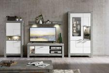 Obývací a jídelní nábytek GRACE white _  sestava typů 40 54 3W..  07 + 30 + 02 + 40 + 06_ čelní pohled_ obr. 5