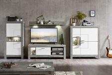 Obývací a jídelní nábytek GRACE white _  obývací sestava 40 54 3W 83_ čelní pohled_ obr. 7