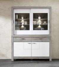Obývací a jídelní nábytek GRACE white _ sestava 40 54 3W 84_ buffet - příborník_ čelní pohled_ obr. 10