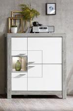 Obývací a jídelní nábytek GRACE white _ skříňka široká 40 54 3W 06_  čelní pohled_ obr. 13