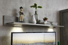 Obývací a jídelní nábytek GRACE white _ závěsná police 40 54 3W 40_  šikmý pohled_ obr. 22