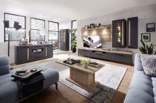 Obývací a jídelní sestavy LAMIA graphite