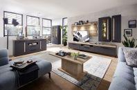 Obývací a jídelní nábytek LAMIA graphite _sestava 10 J4 GH 80 + sideboard 20 + konf. stůl 20 J4 GH 02 _obr. 1